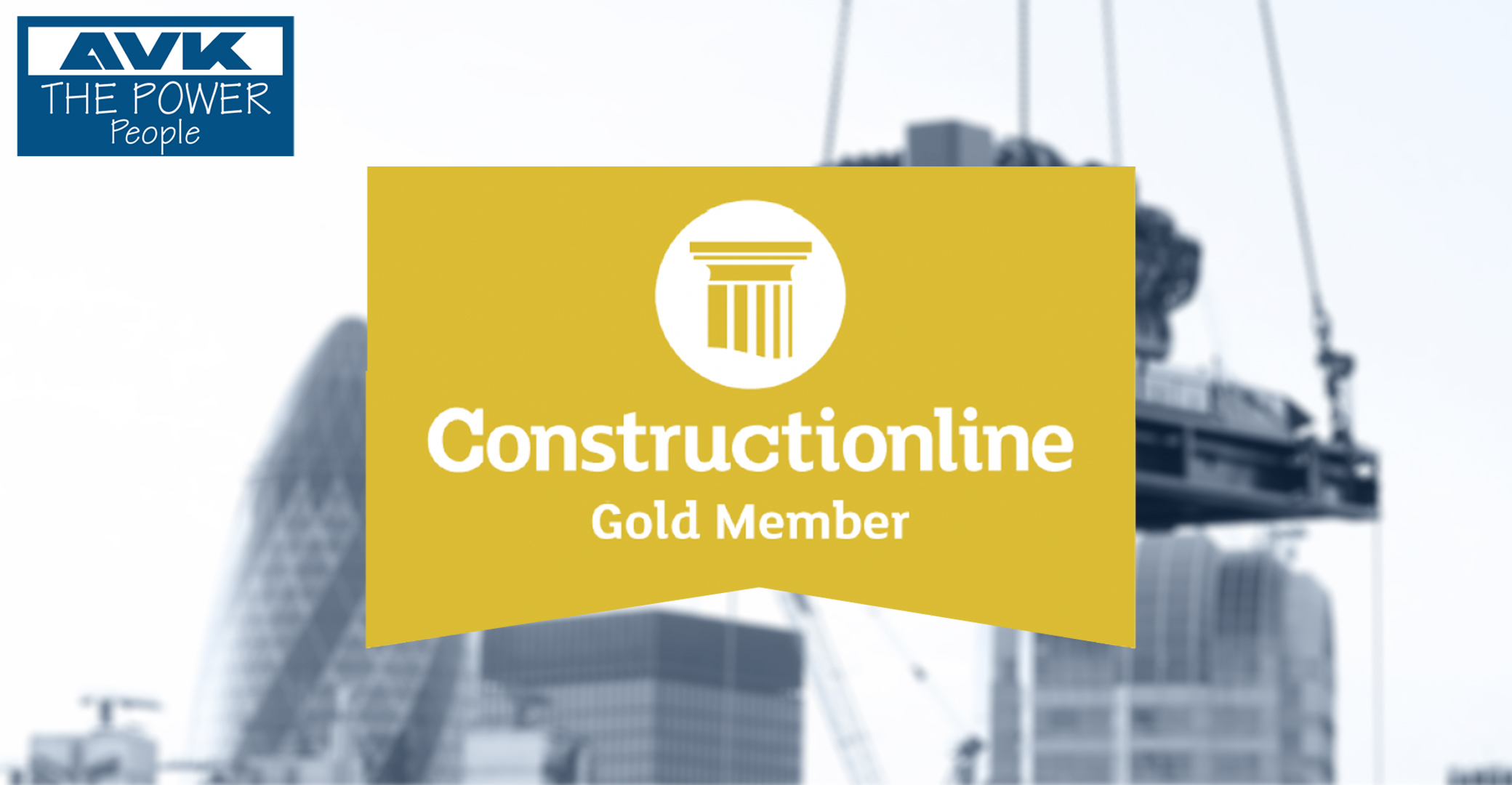 AVK Attains Constructionline Gold Membership